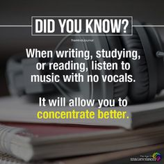 Writing, Studying Or Reading, Listen to Music True Interesting Facts, Interesting Facts About World, Intresting Facts, Psychology Fun Facts, Psychology Says, Psychology Quotes, Color Psychology, Study Motivation Quotes, Study Quotes