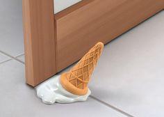 Melted Ice Cream Doorstop http://stuffyoushouldhave.com/melted-ice-cream-doorstop/