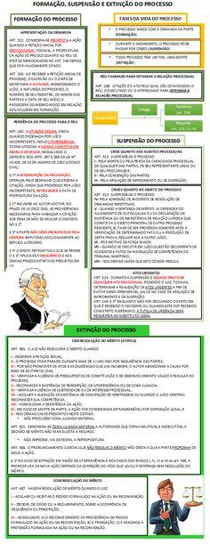 14 - FORMAÇÃO, SUSPENSÃO E EXTINÇÃO DO PROCESSO Novo Cpc, Salvador, Civilization, Labor Law, Law School, Savior, El Salvador