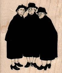 Old ladies gossiping  three woman   stamp  wood Mounted   rubber stamp    stamp number 4648. $9.25, via Etsy.