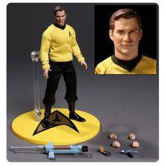 Star Trek Captain Kirk 1:12 Collective Action Figure - Mezco Toyz - Star Trek - Action Figures at Entertainment Earth