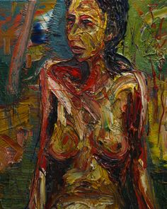 FEMALE NUDE q482   -by David Padworny   #Original #Painting (Oil painting) #Art #Drawing