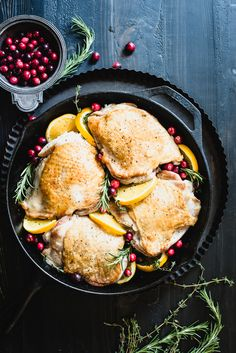The flavors of Thanksgiving come through with this simple Cranberry Orange Turkey Thighs recipe that only takes one pan!