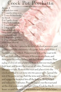 Licking the Plate: recipes