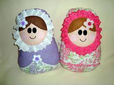 Almofada Boneca Matrioska de tecido