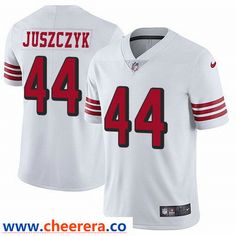 da839fdf6 Nike San Francisco 49ers  44 Kyle Juszczyk White Rush Men s Stitched NFL  Vapor Untouchable Limited Jersey