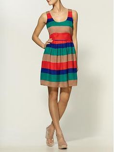 Striped Covet Dress by Jack by BB Dakota --> Perfect dress for a wedding or cruising around San Fran =)