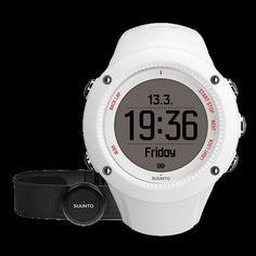 Orologio Running Corsa Outdoor SUUNTO AMBIT3 RUN HR White GPS