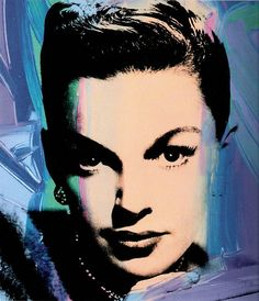 Andy Warhol (American, Judy Garland (Multicolor), Acrylic and silkscreen ink on canvas, 40 x 40 in. Andy Warhol Pop Art, Andy Warhol Portraits, Pittsburgh, Robert Rauschenberg, Roy Lichtenstein, Richard Hamilton, James Rosenquist, Artist Birthday, Photo Star