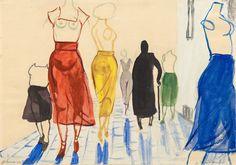 Andrzej Wróblewski // Springtime on Academy of Fine Arts, 1956; Galerie Isabella Czarnowski