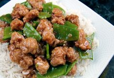 Skinny General Tso's Chicken-baked and not fried, delicious!