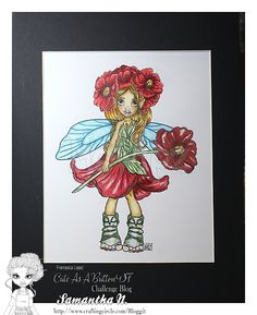 """""""Poppy Fairy"""" Matted art in Pencil – Crafting Circle"""