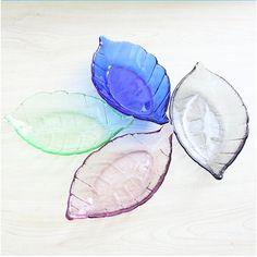 Promociones 4 unids/set corte creativo hojas hojas peces vaso pequeño platos de la cocina de placas Multi-flavored condimento plato platos(China (Mainland))