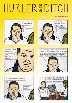 Comic Strip, Davy Fitzgerald, Clare GAA Hurling Funny Sports Memes, Sports Humor, County Clare, Proud Of Me, My Favorite Image, Comic Strips, Ireland, Football, Writing