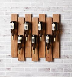 Love this wood wine rack