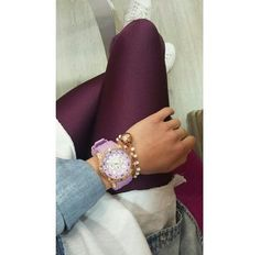 Aubergine shiny #pcpleggings   #pcpclothing #pcpinia Bracelet Watch, Leggings, Women's Fashion, Street Style, Outfits, Accessories, Outfit, Fashion Women