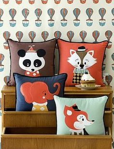 LIMITED STOCK AVAILABLE Print superheroes Darling Clementine from Norway and Ferm Living from Denmark have collaborated to create these to-die-for playful pillows. Drawing on the Marionette characters of Darling Clementine, Ferm Living ha Cute Pillows, Kids Pillows, Throw Pillows, Cheap Pillows, Fluffy Pillows, Sofa Throw, Elephant Cushion, Cat Cushion, Cushion Pillow