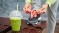 Photo about Green detox smoothie cup and woman lacing running shoes before workout on rainy day. Fitness and healthy lifestyle concept. Image of nutrition, runner, girl - 40004640 Best Post Workout, Good Pre Workout, Hard Workout, Pre Workout Shake, Detox Kur, 10 Day Diet Plan, Diet Plans To Lose Weight, Health And Wellness, Smoothie Detox