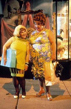 Ricki Lake (as Tracy Turnblad) and Divine (as Edna Turnblad) from John Waters' Hairspray, 1988