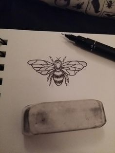 Small bee tattoo design