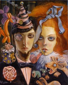 'Coming Out Party', Leslie Ditto (Leslie is a lowbrow pop surrealist friend of mine; her work is incredible)