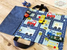 Toy Car Caddy Play mat | Car Carrier | Car Roll | Toy Tote | Toy Car Storage | Travel Toy | Matchbox Holder | Hotwheels | Gift for Boy
