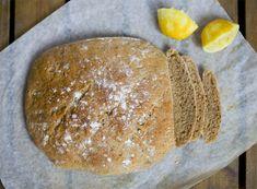 Lemon Spelt Bread, GreenKitchenStories (fresh yeast, spelt flakes, spelt flour, lemon juice and zest, oil)