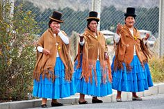 Aymara Traditional Dress  La Paz, Bolivia