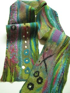 Collage Scarf by Andrea Graham of Odessa, Ont. 2013 NICHE Awards Finalist. Category: Fiber, Wearable