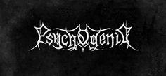 Psychogenic - Black // Death Metal logos by Alice Bramucci, via Behance