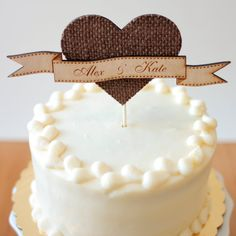 Wedding cake topper by Better Off Wed on Etsy #caketopper #wedding #cake http://eventsbyclassic.com