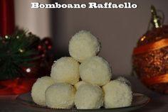 Bomboane Raffaello din lapte praf Truffles, Macarons, Cookies, Romania, Raffaello, Crack Crackers, Biscuits, Truffle, Macaroons