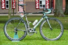 Lars Boom's still dirty winning Bianchi Infinito CV from the cobbled stage 5 in the 2014 Tour de France
