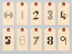0-9 Number Tags