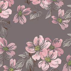 Vintage Florals Pink Blossoms: ARW016   Astek Retro Wallpaper