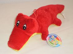 Play by Play Red & Yellow Crocodile Alligator Soft Toy Plush, New with Tags