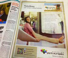 Anúncio no SANTA - Campanha de Dia das Mães Shopping Park Europeu com Paula Braun