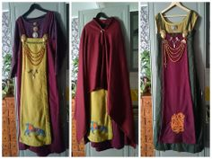 Very first viking clothes and embroidery handmade by Linda Marie - posted on facebook
