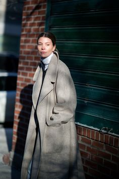 The 26 Best-Dressed People From NYFW, Day 4: Annina Mislin. Because we love a white turtleneck.