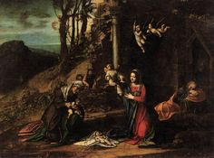 """Coreggio's """"Nativity""""   Merry Christmas!  There are many wonderful, joyful, exuberant Christmas songs, and more than a few will appear in ..."""