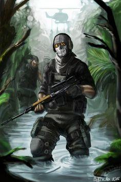 Ghost modern warfare call of duty