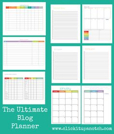 Get organized in 2013-2014 with this 16 month blog planner www.clickitupanotch.com