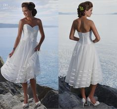 Wholesale Modern new sweetheart handmade flower ruched short A-line summer beach wedding dresses bridal gowns, $87.2-109.74/Piece | DHgate