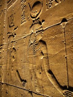 wall reliefs at the Temple of Isis at Philae