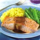 Salmon Fillets with Mustard Glaze