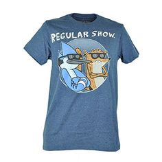 Cartoon Network Regular Show Dudes Distressed Heather Blue Tshirt Tee Small @ niftywarehouse.com #NiftyWarehouse #RegularShow #TV #Shows #Cartoon