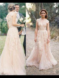 A-line/Princess V-neck Sleeveless Applique Court Train Tulle Wedding Dress