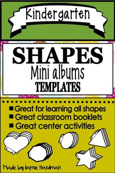 These shape mini book templates are fun little printable books your students can use to work on learning their shapes as well as their printing ! These can be used at centers or table work. Subtraction Kindergarten, Kindergarten Themes, Preschool Activities, Early Childhood Activities, Activity Centers, Addition And Subtraction, Little Books, Student Work, Mini Books