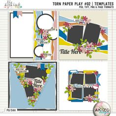 Torn Paper Play #02 | Templates