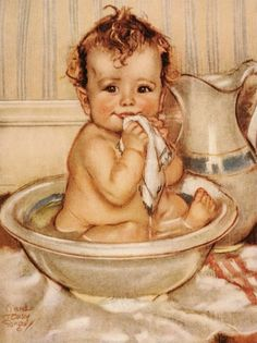 Bath-time by Maud Tausey.